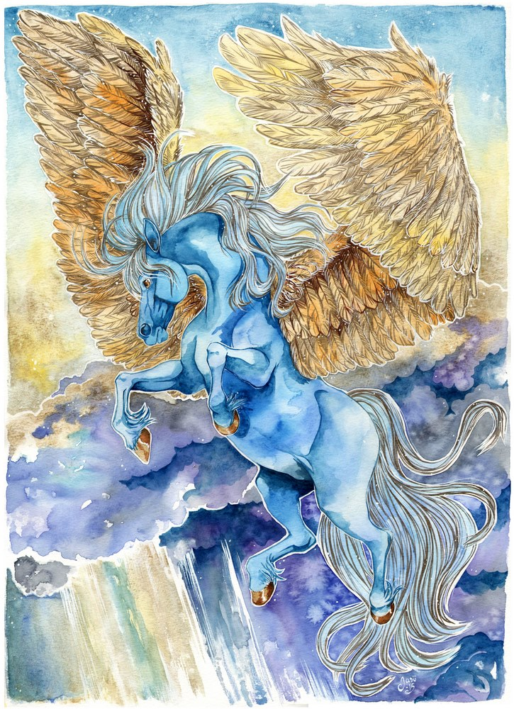 Original Painting - Pegasus