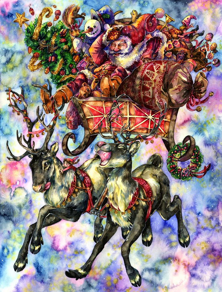 Original Painting - Santa Claus & Co.