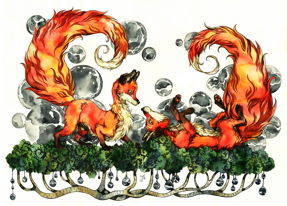 Print - Spiral Tails