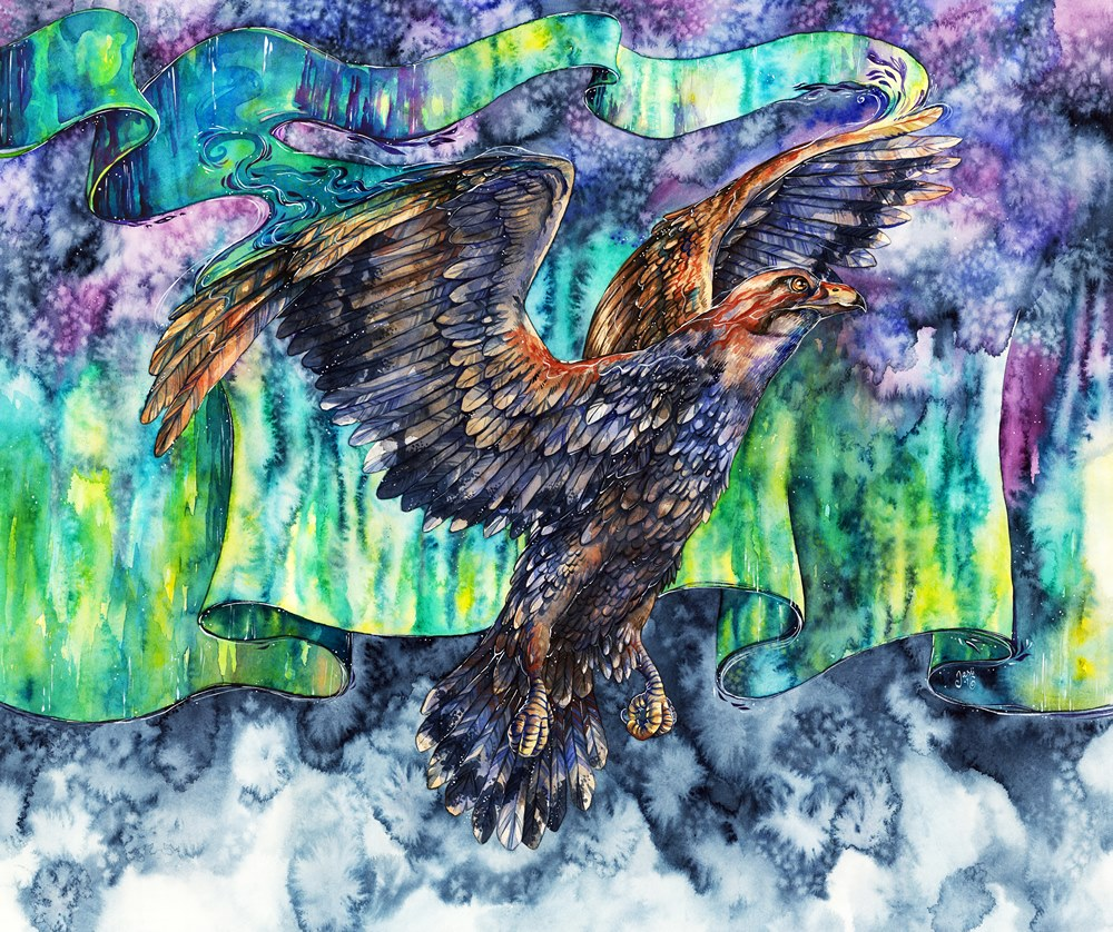 Original Painting - Aurora Eagle