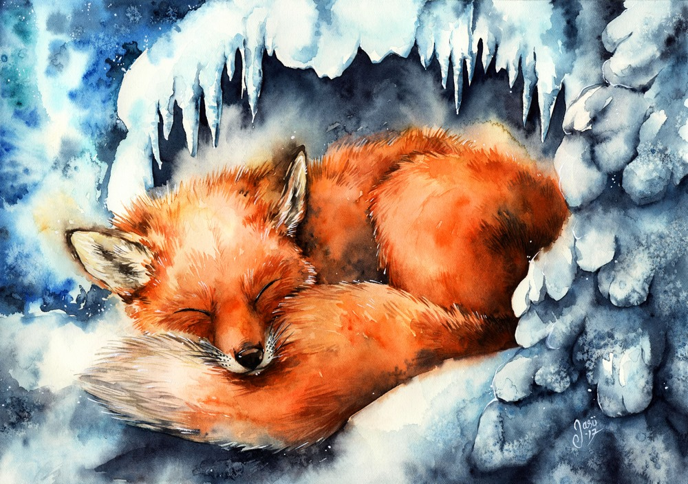 Print - Fox in Winter