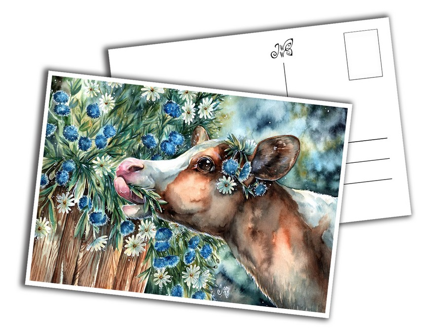 Card - Cute Calf