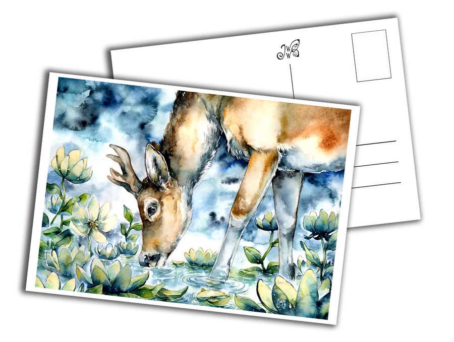 Card - Deer at Dusk