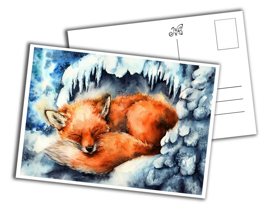 Card - Fox in Winter