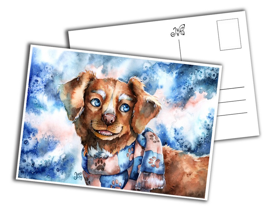 Card - Dog with a Scarf