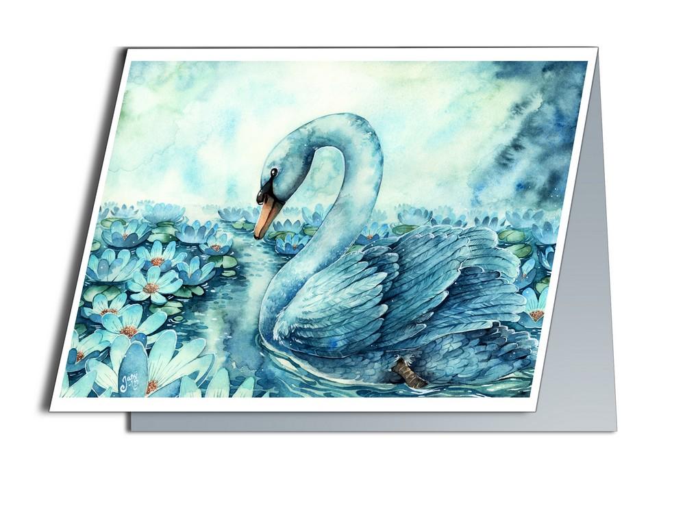 Card - Swan