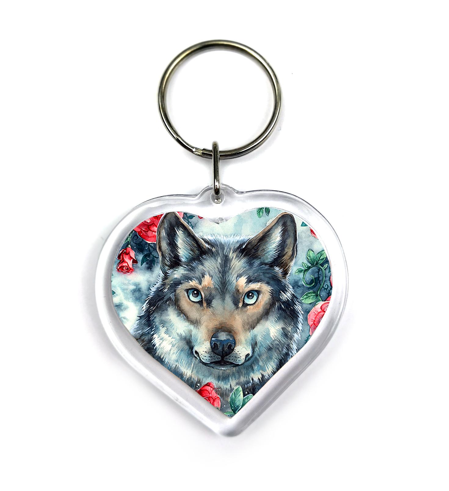 Keychain - Rosy Wolf