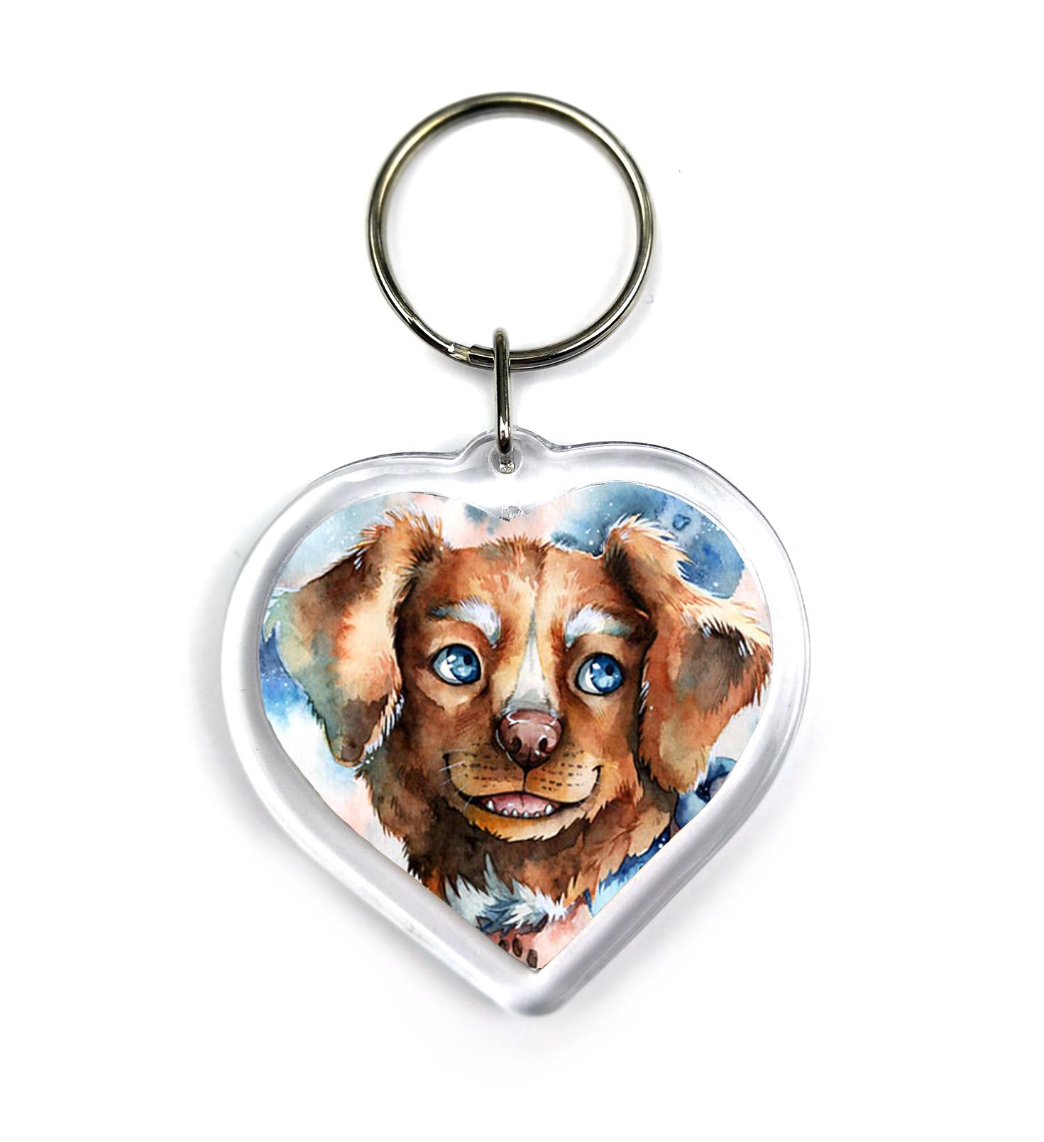 Keychain - Winter Dog