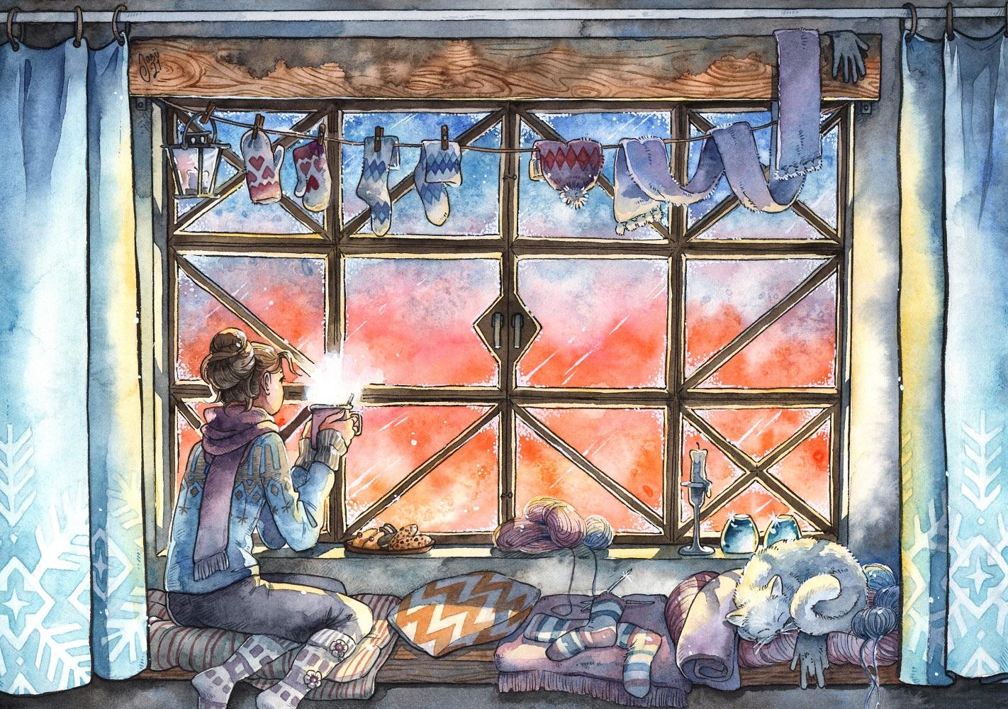 Original Painting - January Sun